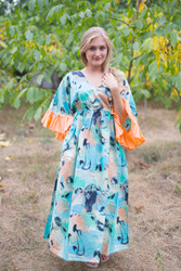 """Pretty Princess"" kaftan in Flamingo Watercolor pattern"