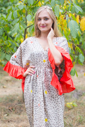 """Pretty Princess"" kaftan in Fun Leopard pattern"