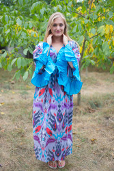 """Pretty Princess"" kaftan in Ikat Aztec pattern"