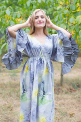 """Pretty Princess"" kaftan in Watercolor Splash pattern"