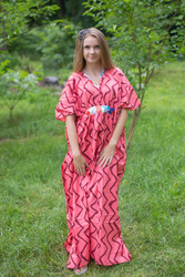 """Unfurl"" kaftan in Chevron pattern"