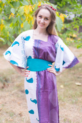"""""""Beauty, Belt and Beyond"""" kaftan in Perfectly Paisley pattern"""