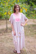 """Flowing River"" kaftan in Falling Daisies pattern"