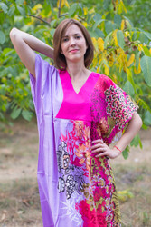 """Flowing River"" kaftan in Vibrant Foliage pattern"