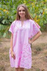 """Sunshine"" Tunic Dress kaftan in Cherry Blossoms pattern"