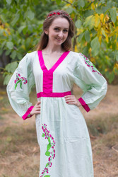 """My Peasant Dress"" kaftan in Climbing Vines pattern"