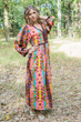 """My Peasant Dress"" kaftan in Diamond Aztec pattern"