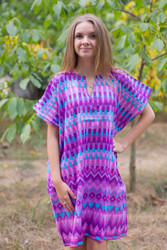 """Sunshine"" Tunic Dress kaftan in Geometrica pattern"