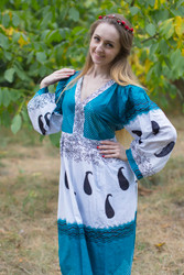 """My Peasant Dress"" kaftan in Perfectly Paisley pattern"