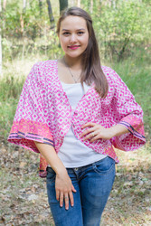 """Fly towards Glory"" Kimono jacket in Geometric Chevron pattern"