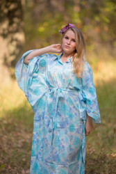 """Oriental Delight"" kaftan in Ombre Fading Leaves pattern"