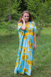 """Unfurl"" kaftan in Sunflower Sweet pattern"