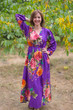 """Shape Me Pretty"" kaftan in Large Floral Blossom pattern"