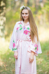 """Oriental Delight"" kaftan in Swirly Floral Vine pattern"