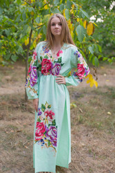"""Shape Me Pretty"" kaftan in One Long Flower pattern"