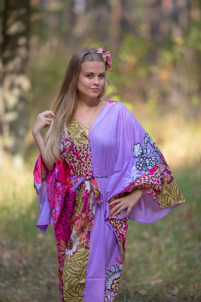"""Oriental Delight"" kaftan in Vibrant Foliage pattern"