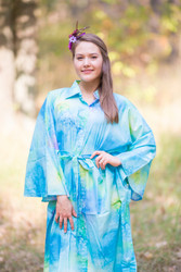 """Oriental Delight"" kaftan in Watercolor Splash pattern"