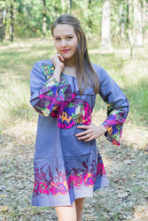 """Bella Tunic"" kaftan dress in Big Butterfly pattern"