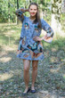 """Bella Tunic"" kaftan dress in Butterfly Baby pattern"