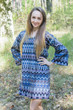 """Bella Tunic"" kaftan dress in Geometrica pattern"