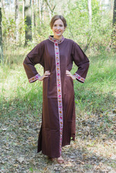 """Luscious Lace"" kaftan in Brown"