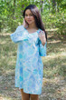 """Bella Tunic"" kaftan dress in Ombre Fading Leaves pattern"
