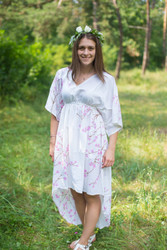 """High Low Wind Flow"" kaftan in Cherry Blossoms pattern"