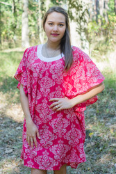 """Summer Celebration"" Tunic Dress kaftan in Damask pattern"
