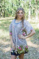 """Summer Celebration"" Tunic Dress kaftan in Fun Leopard pattern"