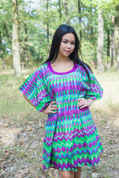 """Summer Celebration"" Tunic Dress kaftan in Geometrica pattern"