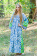 """Fire Maiden"" kaftan in Falling Leaves pattern"