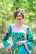 """""""Fire Maiden"""" kaftan in Large Floral Blossom pattern"""