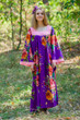 """Fire Maiden"" kaftan in Large Floral Blossom  pattern"