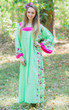 """Fire Maiden"" kaftan in Little Chirpies pattern"