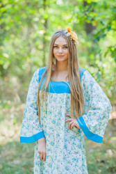 """""""Fire Maiden"""" kaftan in Tiny Blossoms pattern"""