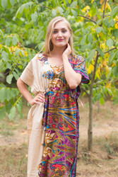 """Side Strings Sweet"" kaftan in Cheerful Paisleys pattern"