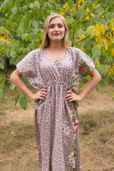"""Side Strings Sweet"" kaftan in Fun Leopard pattern"