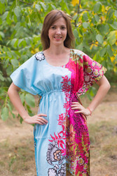 """Side Strings Sweet"" kaftan in Vibrant Foliage pattern"