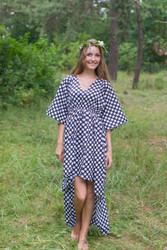 """High Low Wind Flow"" kaftan in Polka Dots pattern"