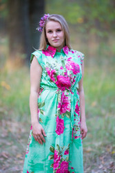 """""""Cool Summer"""" kaftan in Large Fuchsia Floral Blossom pattern"""