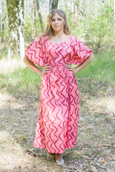 """Cut-out Cute"" kaftan in Chevron pattern"