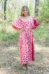 """Cut-out Cute"" kaftan in Chevron Dots pattern"