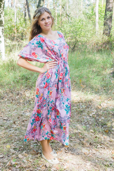"""Cut-out Cute"" kaftan in Cute Bows pattern"