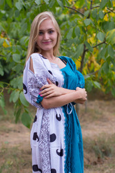 """""""Cut-out Cute"""" kaftan in Perfectly Paisley pattern"""