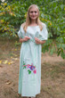 """Cut-out Cute"" kaftan in Swirly Floral Vine pattern"