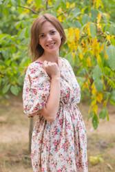 """Cut-out Cute"" kaftan in Vintage Chic Floral pattern"
