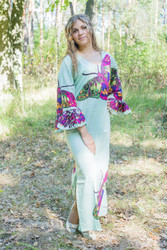 """Frill lovers"" kaftan in Big Butterfly pattern"