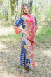 """""""Charming Collars"""" kaftan in Floral Bordered pattern"""