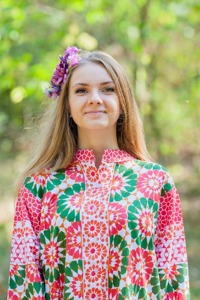 """""""Charming Collars"""" kaftan in Round and Round pattern"""