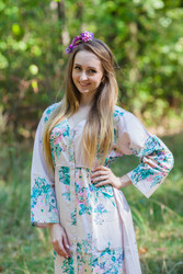 """Button me down"" kaftan in Blooming Flowers"